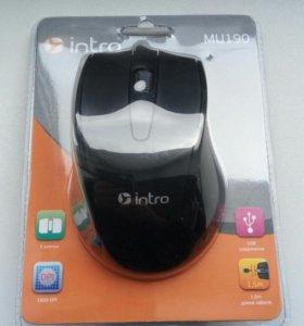 Мышь проводная intro, USB, новая, мышка