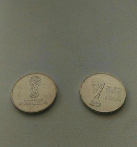 2 монеты 25 рублей 2018 Футбол
