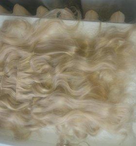 Натуральные волосы на клипсах