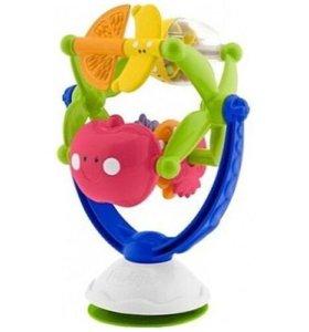 Игрушка музыка Chicco фрукты на присоске на столик