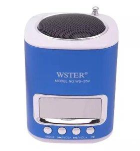 WSTER WS-259 – это портативная MP3 аудиоколонка