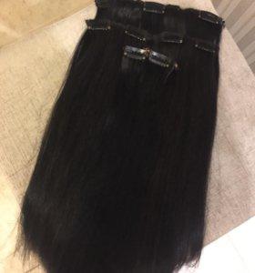 Волосы на заколках Славянка
