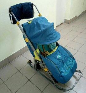 Санки - коляска Ника детям 7 +🎁
