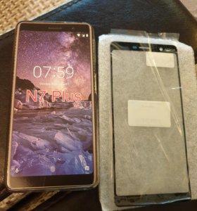 Стекло Nokia 7 plus