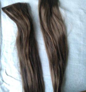 Волосы на заколках 60см