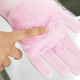 Перчатки хозяйственные силиконовые Magic brush