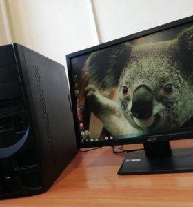 Продам игровой компьютер с монитором на 22d