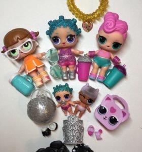Куклы LOL -Набор кукол 5штук+одежда.Оригинал