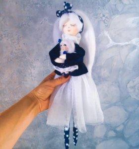 Кукла ручной работы Мама с дочкой