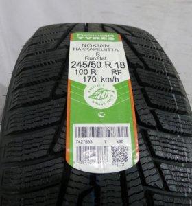 Комплект новых зимних шин R18 245/50 Nokian