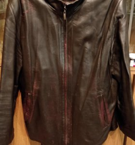 Куртка из тонкой кожи мало б/у размер 52-54