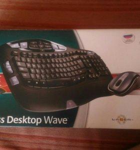 Клавиатура Logitech Cordless Desktop Wave + мышка