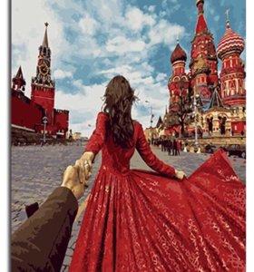 🎨Картина рисование по номерам Кремль 🇷🇺