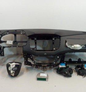 Панель приборов торпедо безопасность AIRBAG + ремни +блок управления подушками HYUNDAI CRETA 15- б/у 84710M0000XMG 88870M0000TRY 56900A0000TRY 84530A0000 95910M0100 2*