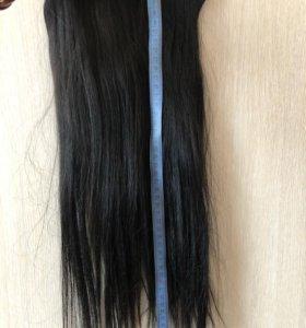 Натуральные волосы на заколка