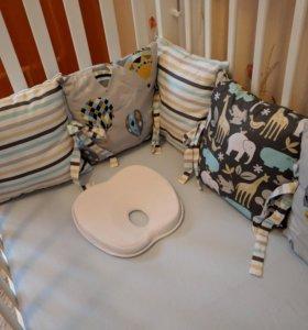 Бортики на детскую кроватку