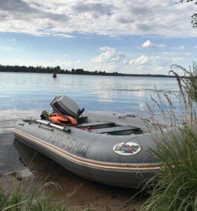 Leader boats 400+Johnson30+прицеп