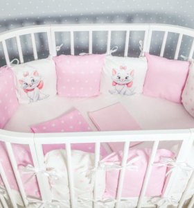 Miss Kitty Набор постельного в кроватку трасформер