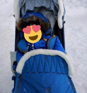 Санки-коляска Ника Детям 7-2 (синий)