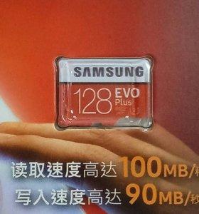 Карта памяти microSD Samsung 128Gb U3