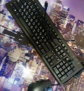 Клавиатура мышка новые.