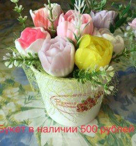 Композиция букет цветов мыло ручной работы