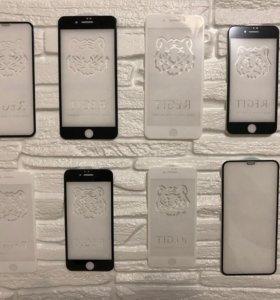 Защитные стекла и чехлы на Samsung, IPhone