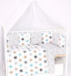 Набор в детскую кроватку 21 предмет