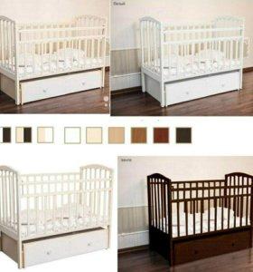 Кроватка детская (белая)