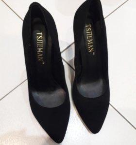 Туфли женские, искусственная замша