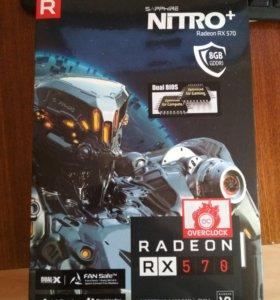 Видеокарта Sapphire Radeon nitro+ RX 570 8гб