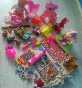 Игрушки пакетом для девочки.ЦЕНА ЗА ВСЕ.