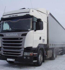 сцепка Scania R400 и п/п штора SCHMITZ 2017 г.