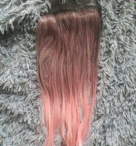 Волосы на заколках. Накладная прядь, ширина 20- 22