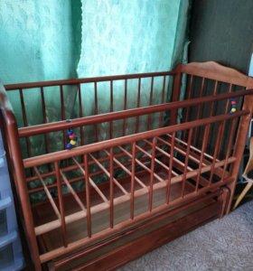 Кроватка Женечка-6 с поперечным маятником