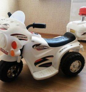 Детский мотоцикл Kreiss Полиция 6V