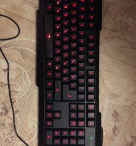 Игровая мышка + игровая клавиатура + коврик