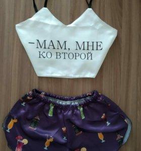 Пижамы с принтами оптом от 10 шт