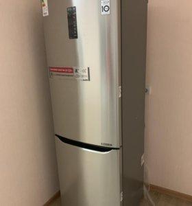 Холодильник LG GA-B429SAQZ серебристый