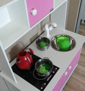 Детская кухня (аналог ИКЕА, деревянная, подсветка)