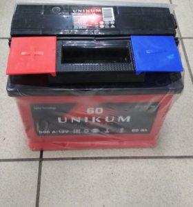 Аккумулятор Уникум 60 А/ч. Доставка бесплатно
