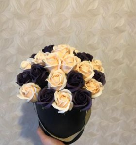 Букет из мыла из роз