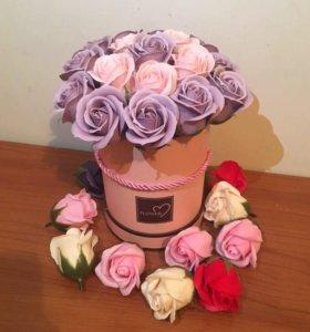 Букет из роз из мыла