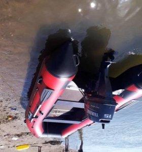 Лодка под транец и мотор 15 сил