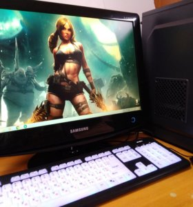 Игровой компьютер и монитор-телевизор