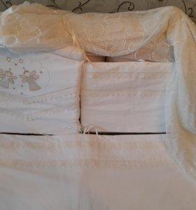 Набор в кроватку (балдахин и бортики)