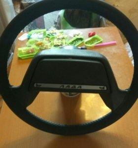 Руль в чёрной коже 2108...2115