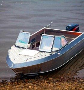Алюминиевый моторный катер Тактика 430