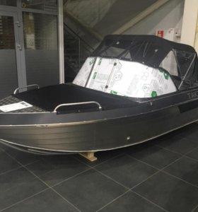 Алюминиевый моторный катер Тактика 430 DC