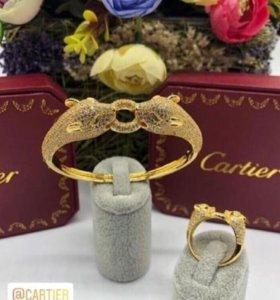 Украшения Cartier кольцо и браслет